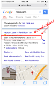 Red Roof Inn gives promotional discount for smartphone users